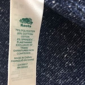 Roots Canada Sweaters - Roots Open Front Cardigan Raw Hems and Thumb Holes